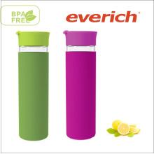 Nuevo elegante nivel superior de calidad borosilicato ambiental botellas de vidrio vacío