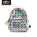 Fashion waterproof leather reflective ladies backpack