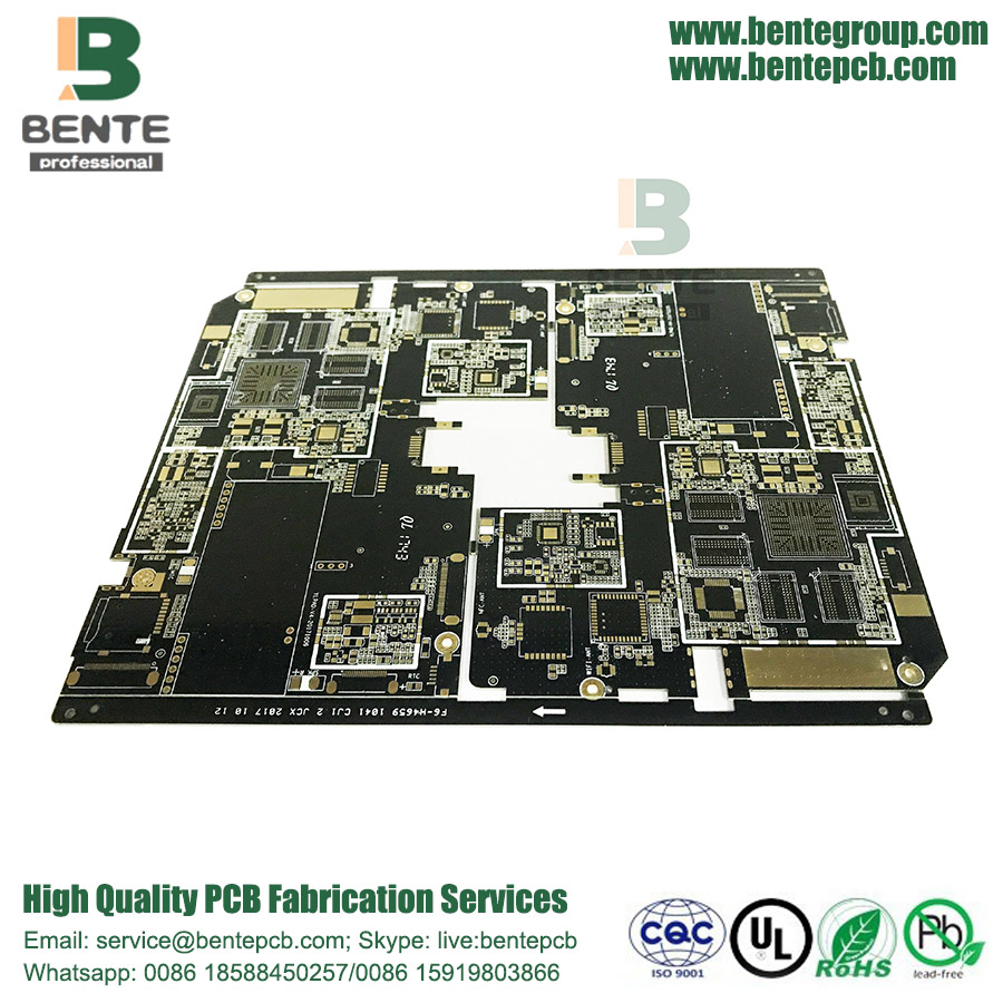 10 Layers HDI PCB With Black Ink