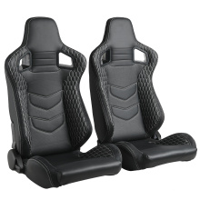 Adjustable Black PVC Leather sports carbon car seats