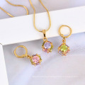 60862-Xuping Simple Design Jewelry Set Fake 18k Gold Jewelry