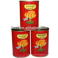 законсервированный желтый персик / консервы белый персик /консервированные фрукты в легком сиропе