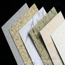 Pedra decorativa de mármore de material de alumínio Painel de parede