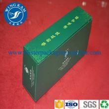 Embalagem de caixa de papelão retangular chá verde