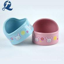 Tigelas de cerâmica para animais de estimação em forma de coração de hamster de fábrica