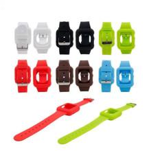 Boucle de boîtier de bracelet de montre en caoutchouc de moulage de conception OEM