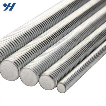 Varilla roscada de acero inoxidable con resistencia eléctrica a la tracción de zinc, varilla roscada galvanizada, varilla roscada trapezoidal