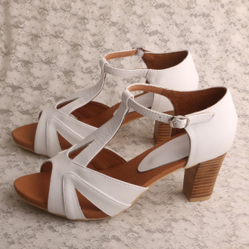Handmade+Leather+Sandals+White+with+Block+Heel