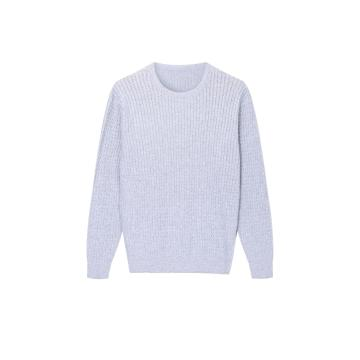 Men's Knitted All Cable Crew-Neck Pullover