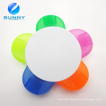 5 in 1 Flower Shape Plastic Highlighter Marker for Promotion Gifts