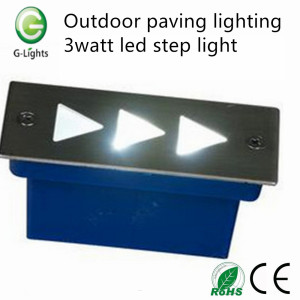 Outdoor paving lighting 3watt step light