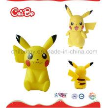 Pequeño juguete plástico de la figura de Pikachu (CB-PM023-S)