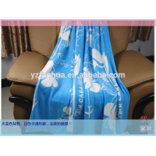 wholesale polar fleece beding blanket, skin friendly satic free 100% polyester fleece blanket
