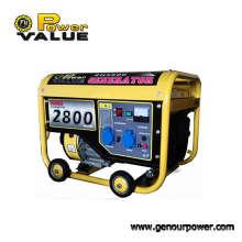Gerador portátil da gasolina de Taizhou 2500kw 220V do valor do poder