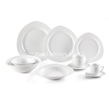 Driehoek porselein speciale vorm Dinnerware Set