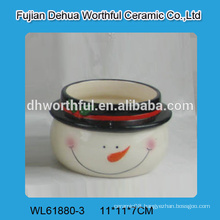 2016 new style christmas ceramic bowl in snowman shape
