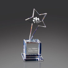 Blank Crystal Ornamental Award Crystal Star Glass Trophy