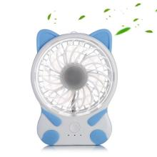 Electric Rechargeable Fan Cartoon Cat Fan for Wholesale