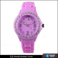 Reloj de la señora china de la venda de la silicona