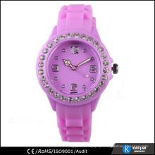 Relógio de China senhora de silicone