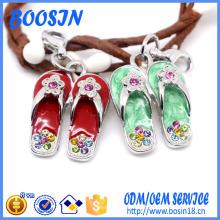 Encanto de zapatos de diamantes de imitación de alta calidad de fábrica para la fabricación de joyas