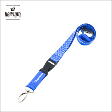 Günstige Hellblau Silk Screen Crown Fancy Printing Lanyards für Visitenkartenhalter