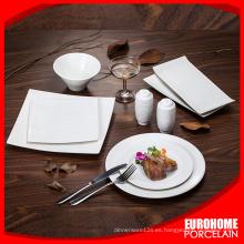 Eurohome súper blanco vajilla de bodas de cerámica