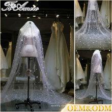 Свадебная мода высокое качество длинные Свадебные фата новый дизайн