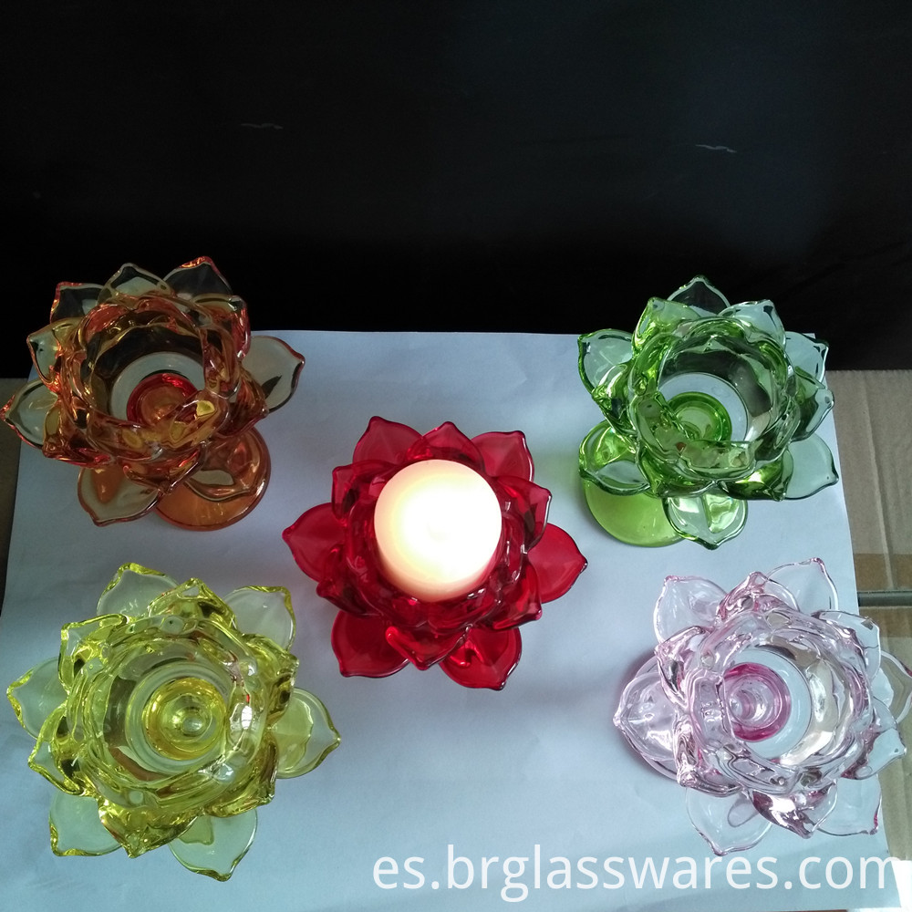 glass candle holder 8