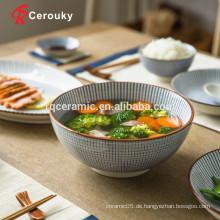 Schöner Design Mikrowellensicherer keramischer Suppenschüssel