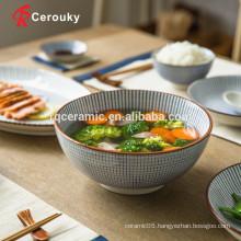 Beautiful design microwave safe ceramic soup bowl