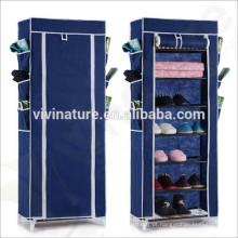 Armário de armazenamento de quarto \ Mulit-função tubo de aço sapatos prateleira de armazenamento \ rack de armazenamento