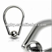 Beförderung!!! Stahl Kugel männlichen Kreis Nippel Ring