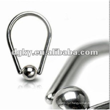 Promotion!!! Steel ball male circle nipple ring