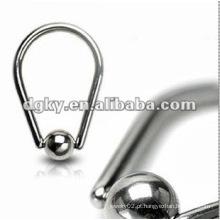Promoção!!! Bola de aço anel anel mamilo círculo