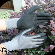 SRSAFETY 13g safety hand glove coated latex/safety gloves