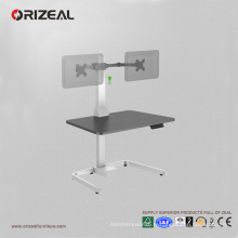 Support de moniteur orientable Orizeal pour bureau debout, station de travail assis-debout (OZ-OSDC003)
