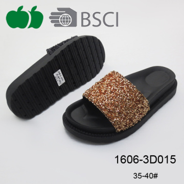 New Design Sexy Black Color Women Fashion Durable Slippers