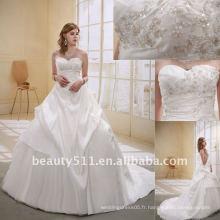 Astergarden Fashion Beading A-line Flower Veils comme cadeau Noblest Robe de mariée en déshabille AS-007