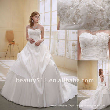 Astergarden Fashion Beading A-line Flower Veils como presente Noblest Vestido de noiva vestido de erva AS-007