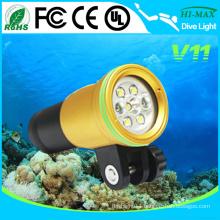 Golden Color Body 100m Scuba Dive Underwater Photo/Video Light