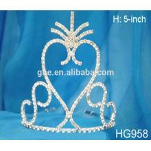 Tiara de la corona y cetro cristal rhinestone tiara princesa cumpleaños fiesta tiara extracto de la corona de espinas