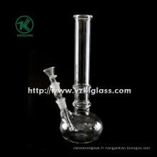 Porte-bougie en verre à une cloison avec lampe (10 * 14 * 28)
