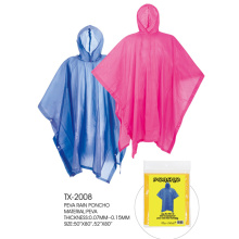 Eco-friendly PEVA Rain poncho για ενήλικες