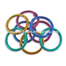 Art- und Weisequalitäts-Metall farbige Buch-Ringe