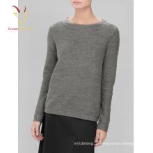 Irische Wolle grauer Pullover Damen