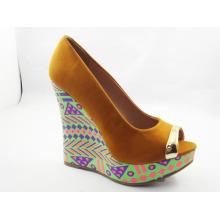 2016 novas mulheres design peep toe sandálias (hyy03-158)