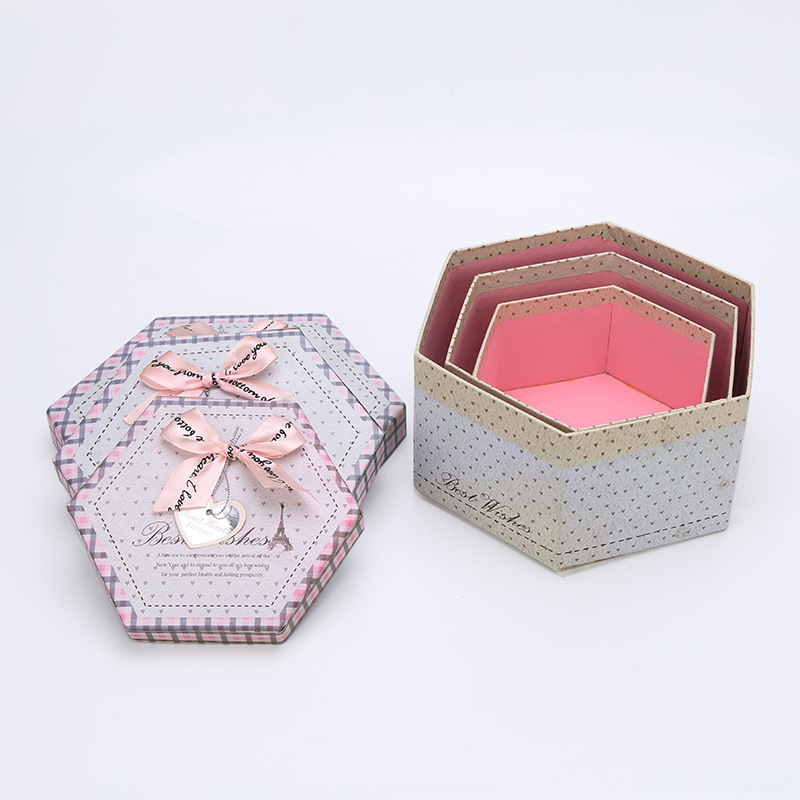 Hexagon Shape Origami Paper Gift Box