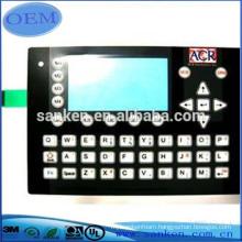 Custom printed membrane switch faceplate