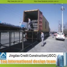Fácil instalación y transporte de marcos de acero